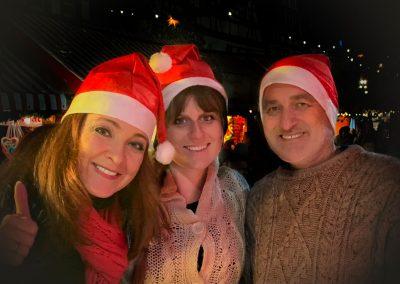 Gabriele Schuh & Band nach dem Konzert auf dem Weihnachtsmarkt Lauf